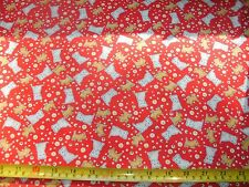 Riley Blake Quilt Fabric Toychest 2 Dog Dogs Scottie Dots Yellow White Red BTY