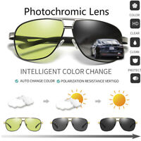 HD Polarized Photochromic Sunglasses Mens Chameleon Pilot Driving Glasses Sports