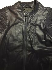 ZARA MAN Large Faux Leather Biker Jacket