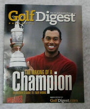 Golf Digest -The Making of A Champion Tiger Woods- From Wheaties Cereal Box