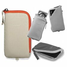ACME Made Soft Pouch Camera Case Cream Three Quarter ZIPPER Easy Access Bag