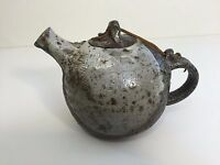 """Art Pottery Handcrafted Teapot, 6 1/4"""" Tall x 10"""" Widest with Handle"""