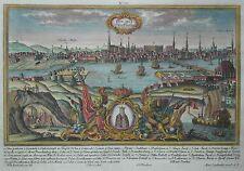 Holmia. Stockholm. - Stadtansicht von Werner bei Engelbrecht - Kupferstich 1730