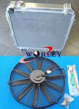 "3ROW Toyota Hilux surf KZN130 1KZ-TE 3.0 TD 1993-1996 Aluminum Radiator +16"" fan"