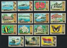 Kiribati Birds Butterfly Fish Ships Hibiscus Definitives 15v No Watermark MNH
