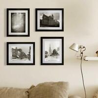 "4Pcs Picture Photo Wall Frame Hanging Display Home Decor Black Modern Set 8""x10"""