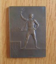 Bronze Winner's Medal Plaque 1900 Paris Expo / Olympic Games by Vernon