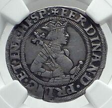1521AD AUSTRIA Antique Silver Austrian Coin Archduke Ferdinand VIENNA NGC i79196