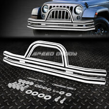 FOR 87-06 JEEP WRANGLER OE STYLE CHROME STAINLESS STEEL FRONT BRUSH GRILLE GUARD
