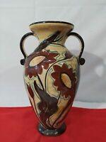 Vaso in ceramica d'epoca firmato PB D. GO