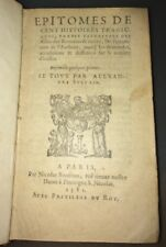 1581. EPITOME DE CENT HISTOIRES TRAGICQUES par Alexandre VAN DEN BUSSCHE
