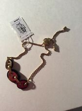 $95 Michael Kors Tortoise and Gold-tone Maritime Link Bracelet  #229