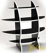 SCAFFALE SFERICO COMODINO APPOGGIO DESIGN PORTA CD CAMERA NERO 61x61 NS-01020100