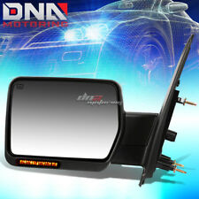 FOR 04-14 FORD F150 POWER+HEATED+SIGNAL CHROME TOWING MIRROR LEFT DRIVER SIDE