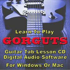 GORGUTS Guitar Tab Lesson CD Software - 19 Songs