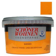 (11,18€/L) Schöner Wohnen Wandfarbe -seidenglänzend- Mango 2,5 L