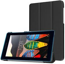 LuvTab LENOVO TAB 3 Essentials Tablet 7 Pollici IN FINTA PELLE CASE STAND GENIUS