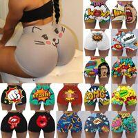 Womens Cute Cotton Panties Stretch High Waist Underwear Panties Cat Print Brief