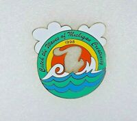 1998 Odyssey Of The Mind Trading Pin - Catch The Waves of Michigan Creativity
