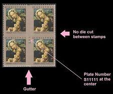 US 4815 Christmas Virgin & Child forever cross gutter plate block MNH 2013