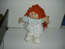 "16"" Cabbage Patch Doll Xavier Roberts 1985 Real Long Orange Hair Lavender Dress"