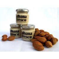 Albana Fresco: 3x105gr crema di mandorle Sicilia da spalmare, biologico e 100% v