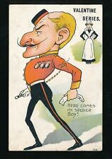 Military Comic Artist Valentine Series My Soldier Boy Used 1906 PPC