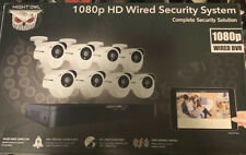 Night Owl 8 Ch HD 1TB Drive 8 Indoor/outdoor Cameras Night Vision Infrared New!