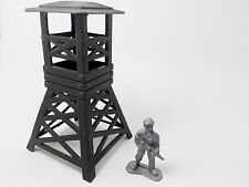 2pcs Military Watch Tower Model Plastic Toy Soldier Army Men Accessories
