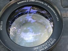 BAUSCH & LOMB  24 INCH 606mm  F6.0 AERIAL LENS   Front & Rear Cell Nos New Boxed