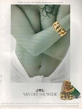 ▬► PUBLICITE ADVERTISING Bracelet Joaillers VAN DER BAUWEDE 1994