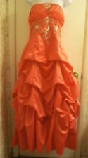 City Triangles Beaded Strapless Dress/Gown Sz 11/12;Occasion Holiday; Coral Pink