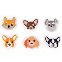 6Pcs Dog Embroidered Patch Iron On Sewing Applique BadFLA