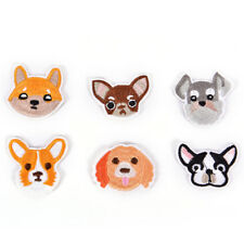 6X chien brodé patch fer sur la couture applique badge vêtements autocollant _F