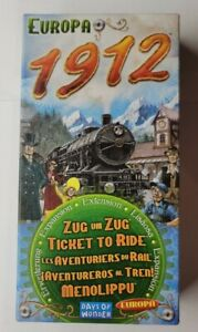 Ticket to Ride Europa 1912 Days of Wonder INCOMPLETE