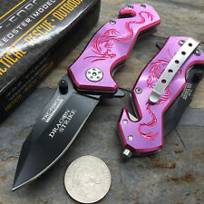 "3.5"" TAC-FORCE Pink Dragon Small Fantasy collecible Model Pocket Knife"