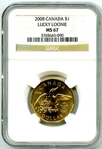 2008 CANADA $1 NGC MS67 LUCKY LOONIE LOON DOLLAR SUPER RARE TOP POP REGISTRY