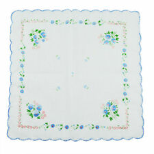 Women Lot Of 12 Pcs Cotton Embroidered Handkerchief Quadrate Hankies Child Hanky