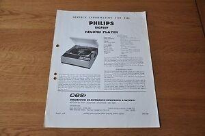 Philips 13GF819 Record Player Workshop Service Manual 13GF 819