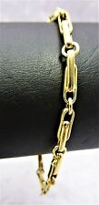 9ct Solid Yellow Gold Fine Quality Bracelet 9.9gr-20cm