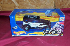 Old Hot Wheels Cop Rods 32 Ford Sedan 1:24 Scale Police Car Toy Model Diecast