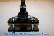 Edge Fahrradanhängerkupplung mit Anbauplatte 1001 + Gegenplatte 110mm breit