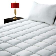 Pillow Top Mattress Pad Full Size Bed Topper Cover Soft Hypoallergenic Cooling