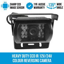 Heavy Duty CCD IR 12V/24V Colour Reversing Camera Reverse Rearview Car Caravan