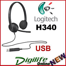Logitech USB Headset H340 Rich Stereo Sound for PC & Mac