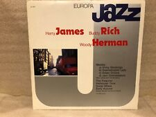"""Harry James Buddy Rich Woody Herman """"Europa Jazz"""" Lp is VG+ Italy Import"""