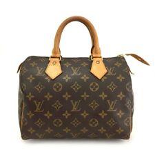 100% Authentic Louis Vuitton Monogram Speedy 25 Boston Travel Hand bag /e590