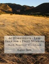 60 Days Math Less Than: 60 Worksheets - Less Than for 1 Digit Numbers : Math...