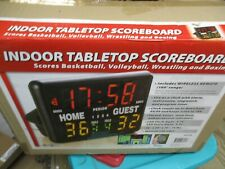 NEW GAME CRAFT INDOOR MULIT-SPORT TABLETOP SCOREBOARD W/REMOTE SK2229R FREE SHIP