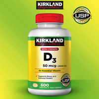 Kirkland Signature Extra Strength D3 50 mcg,(2000 IU) 600 Softgels